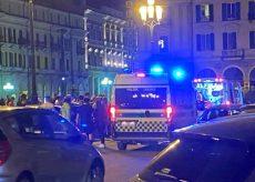 La Guida - Incidente in piazza Galimberti, ferito un motociclista
