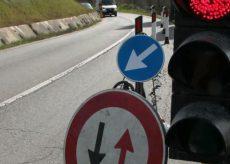 La Guida - Senso unico alternato per lavori sulla provinciale 41 verso Bernezzo