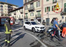 La Guida - Incidente stradale nel centro di Saluzzo