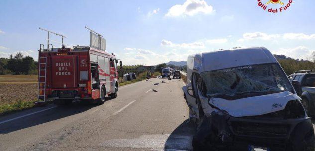 La Guida - Scontro tra furgoni sulla tangenziale di Alba