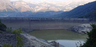 La Guida - La diga senz'acqua a Entracque per controlli su strutture Enel (video)