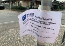 La Guida - San Rocco Bernezzo, interruzione idrica per manutenzione