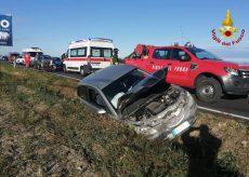 La Guida - Tamponamento tra tre auto sulla statale a Genola