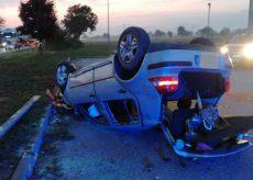 La Guida - Auto cappottata in regione Colombero, ferito il conducente